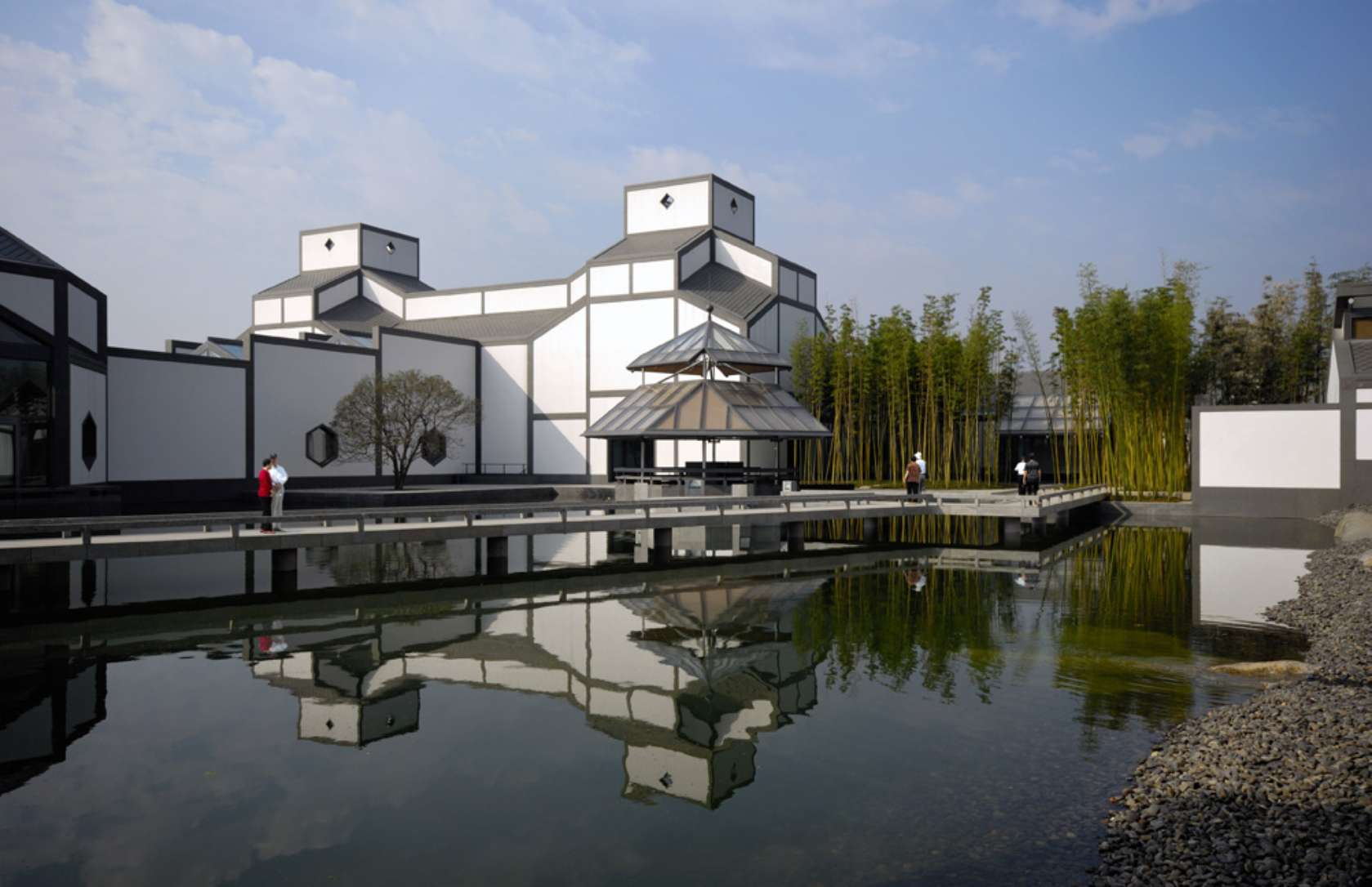 Art Museums by Ieoh Ming Pei: Ioh Ming Pei, Exterior of the Suzhou museum