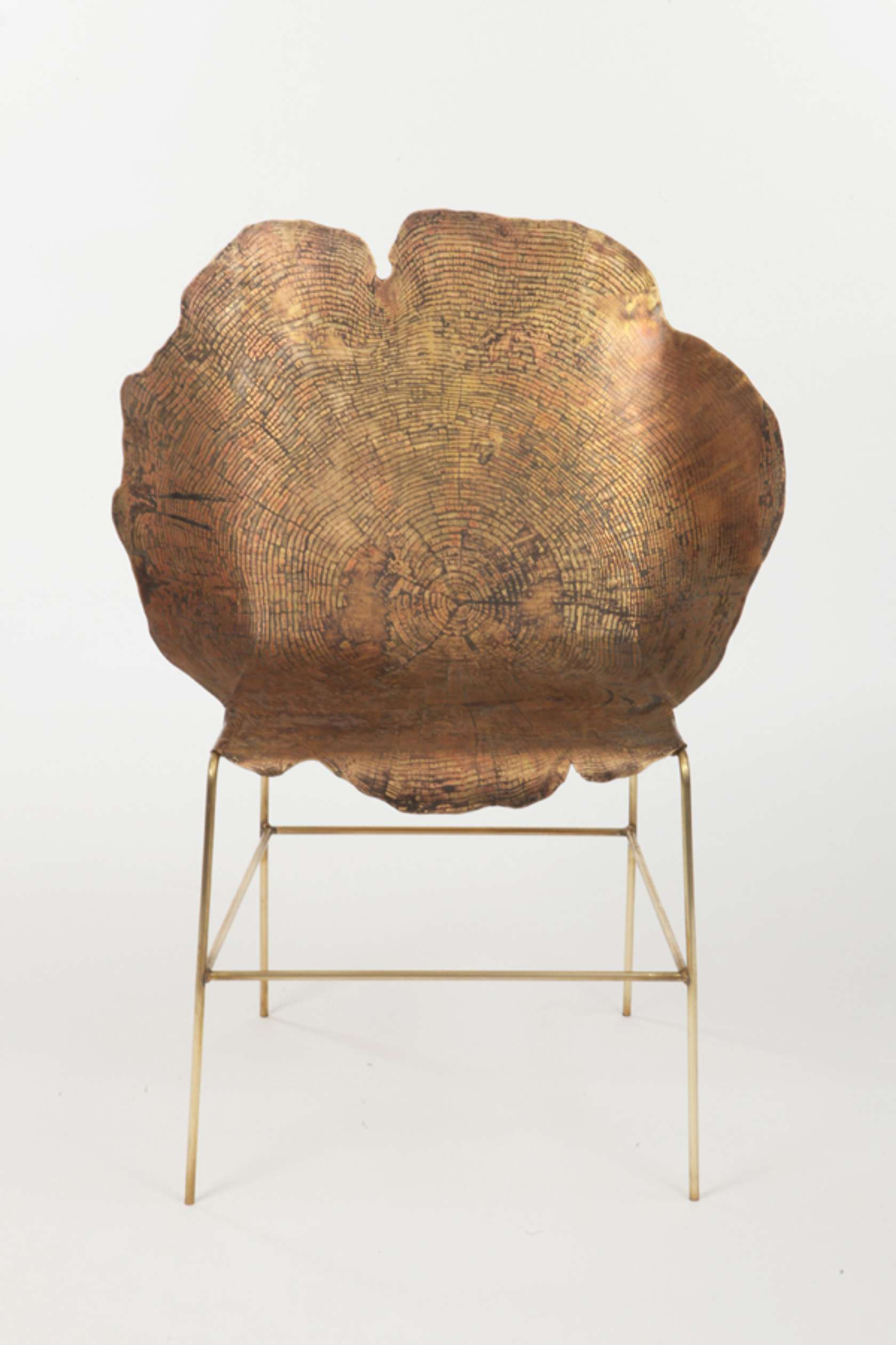 Metal chairs that channel tree stumps architizer - Chair made from tree trunk ...