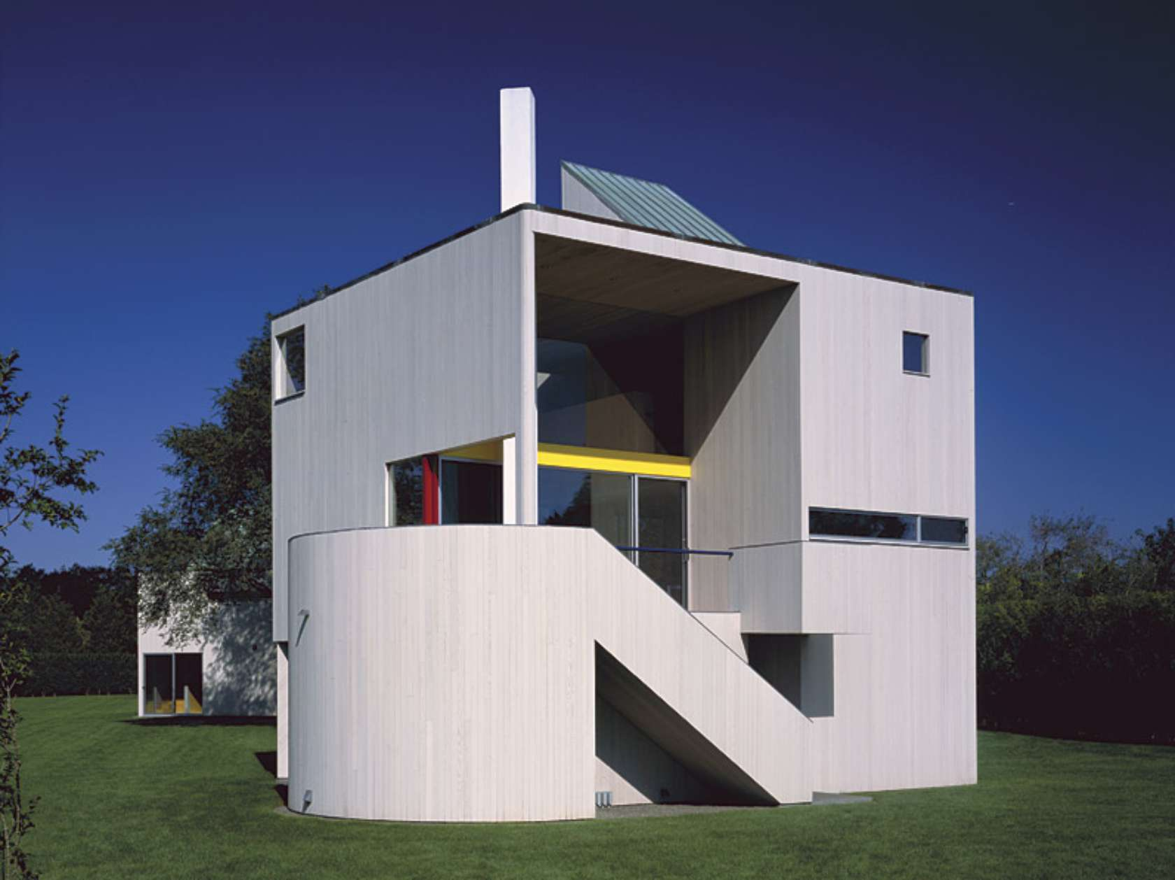 Gwathmey residence and studio architizer - Residence inversee studios architecture en californie ...