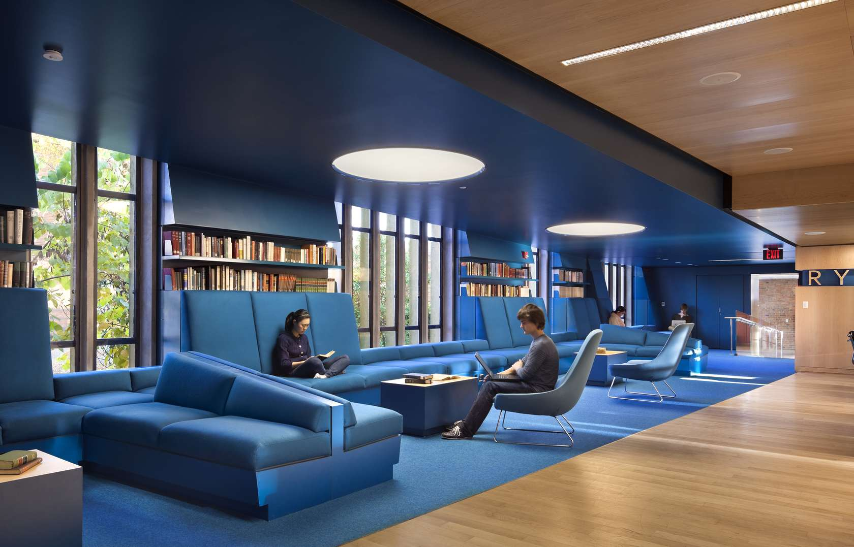 Julian street library at princeton university architizer for Library designs interior