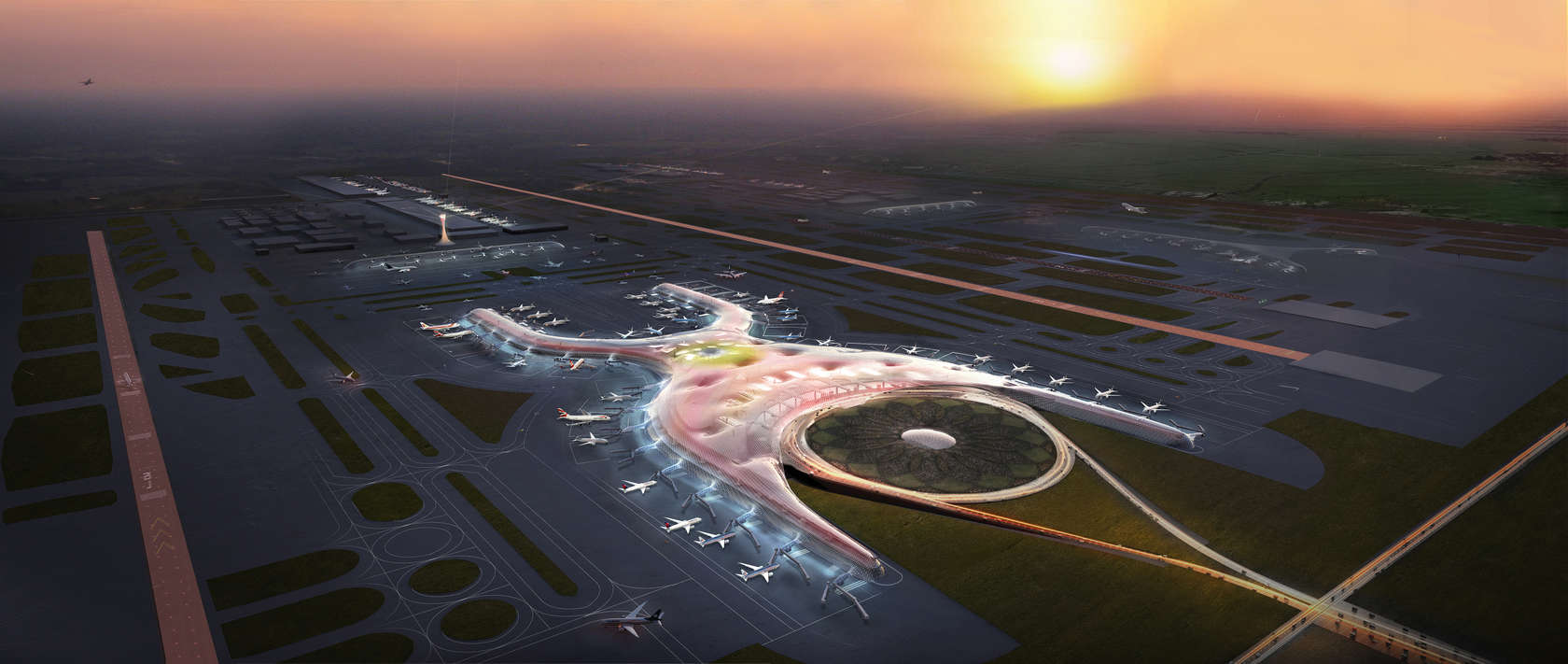 The new airport was slow to expand, only serving two million passengers a year by , but it served over five million annually by and an expansion plan was approved in