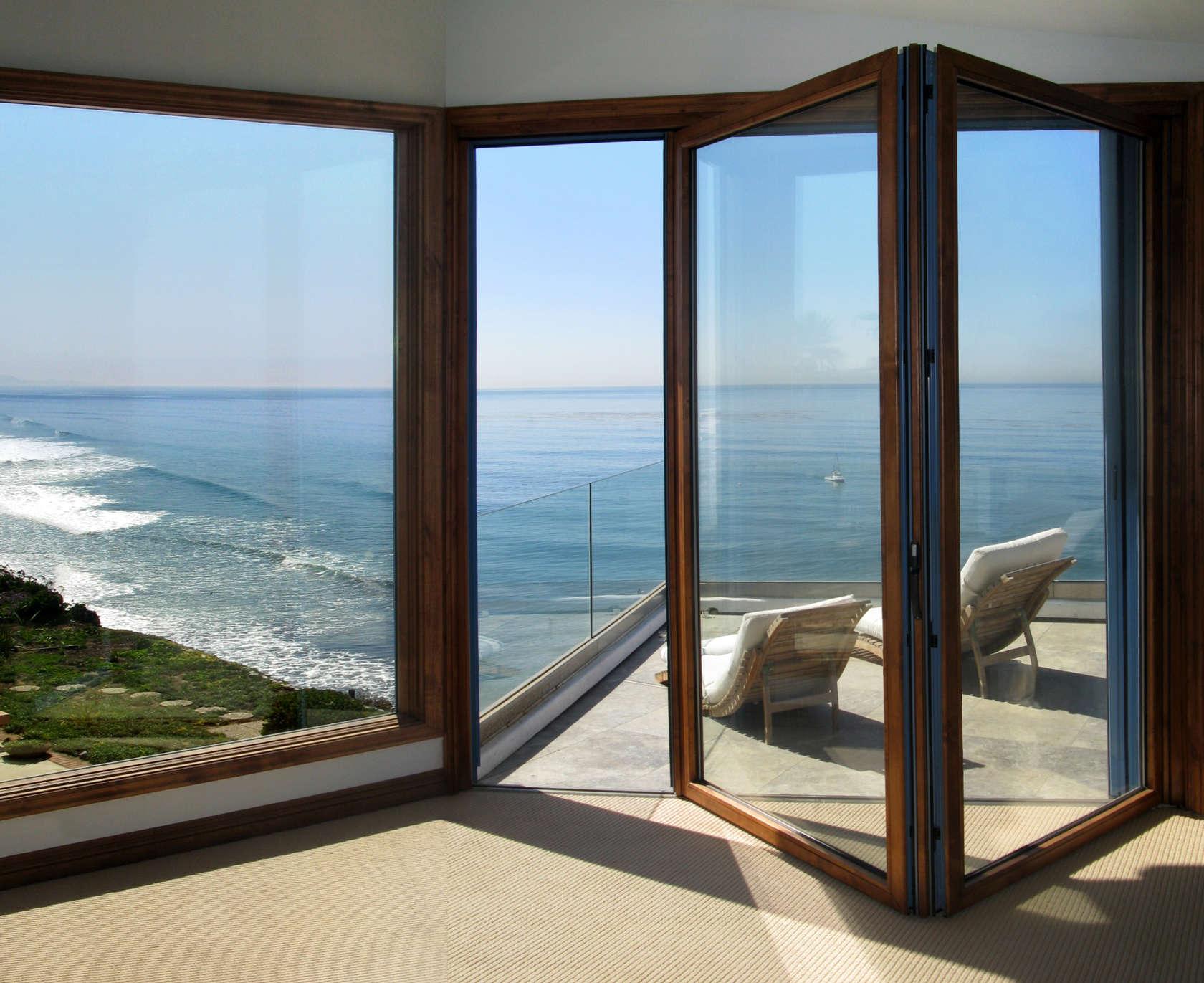 1371 #336E98 74 Aluminum Wood Clad Folding Door Architizer wallpaper Wood Clad Doors 47551680