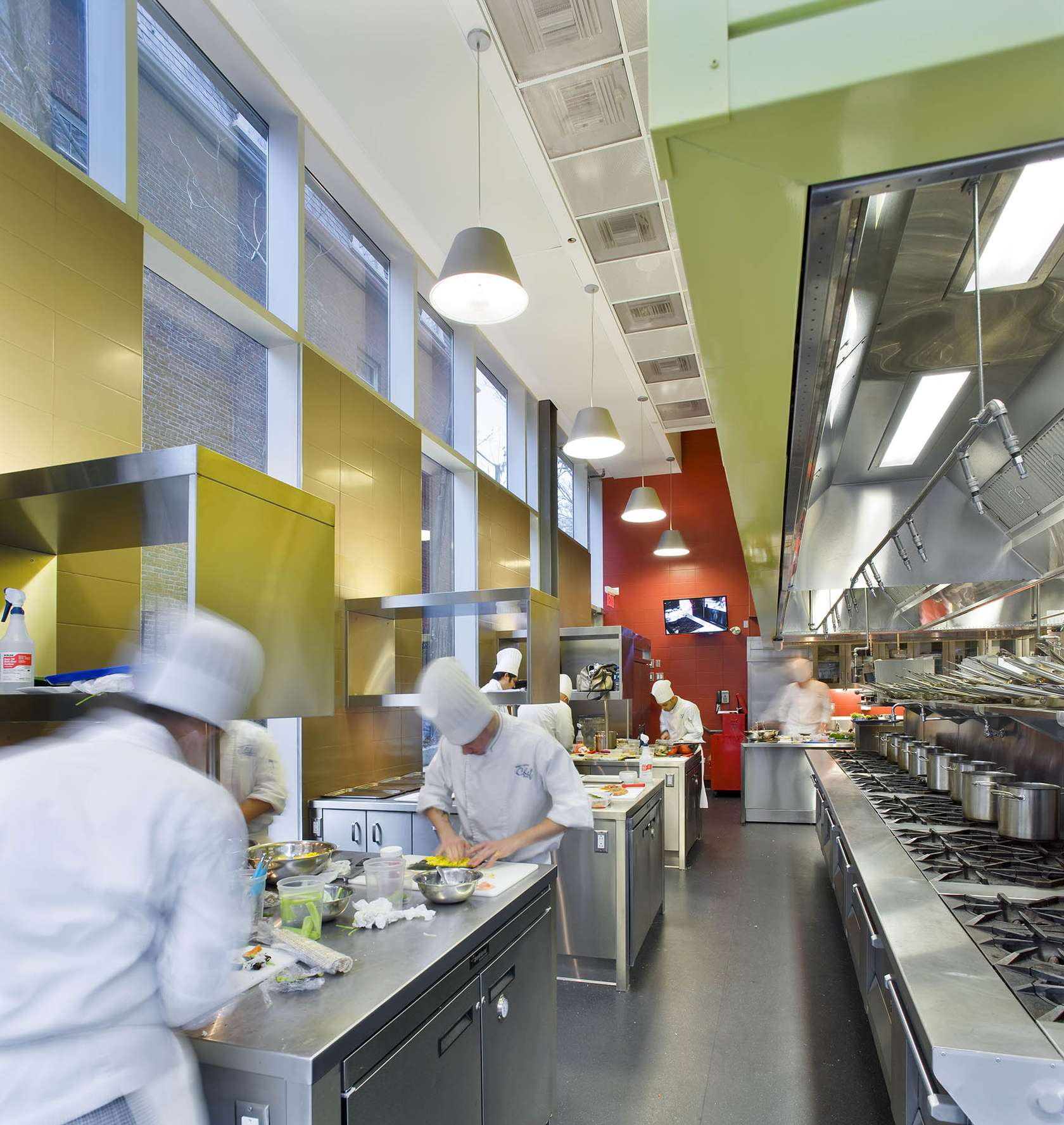 Centre for hospitality and culinary arts architizer - Kitchen design school ...