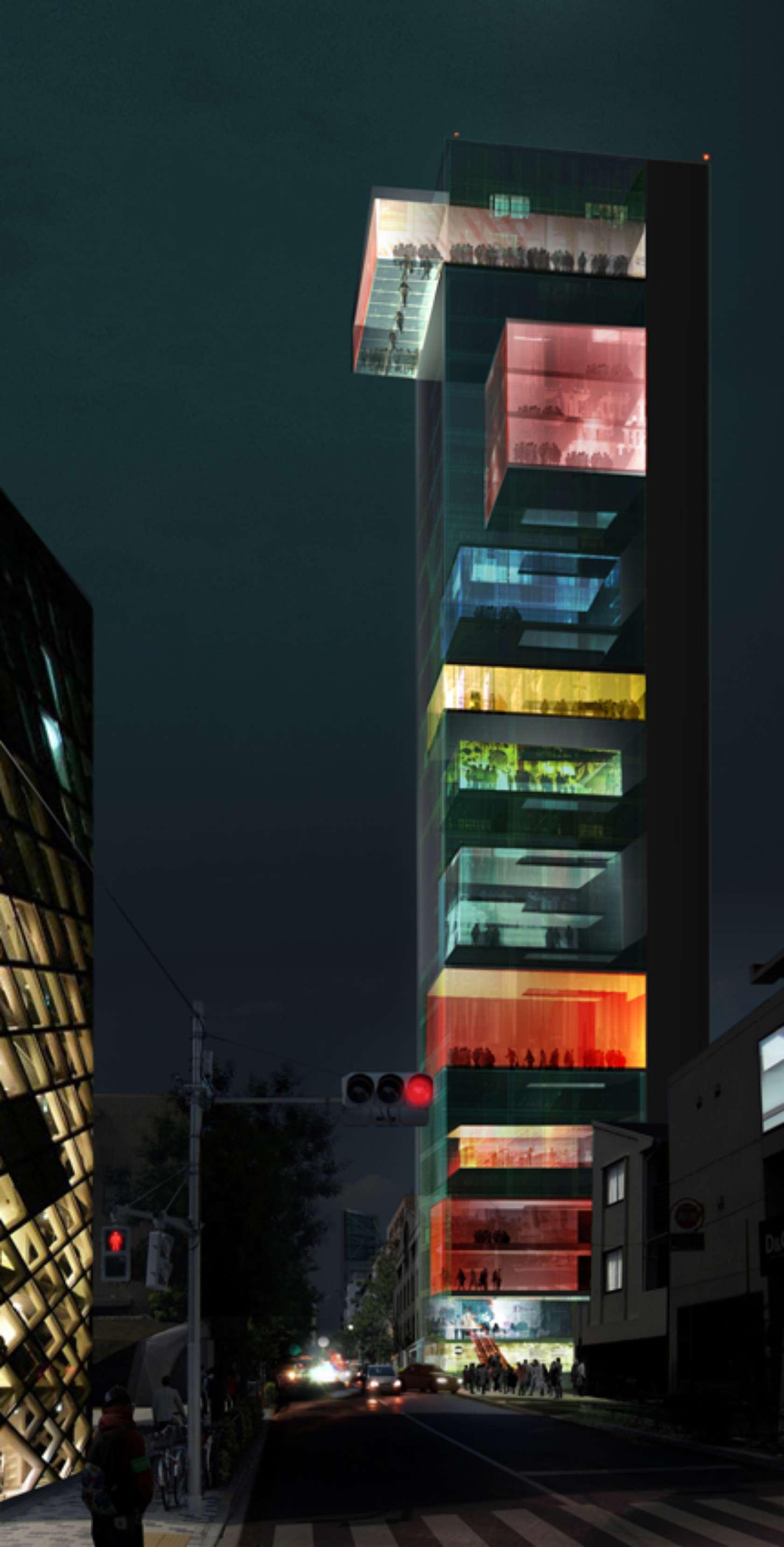 fashion museum in omotesando street vertical omotesando architizer. Black Bedroom Furniture Sets. Home Design Ideas