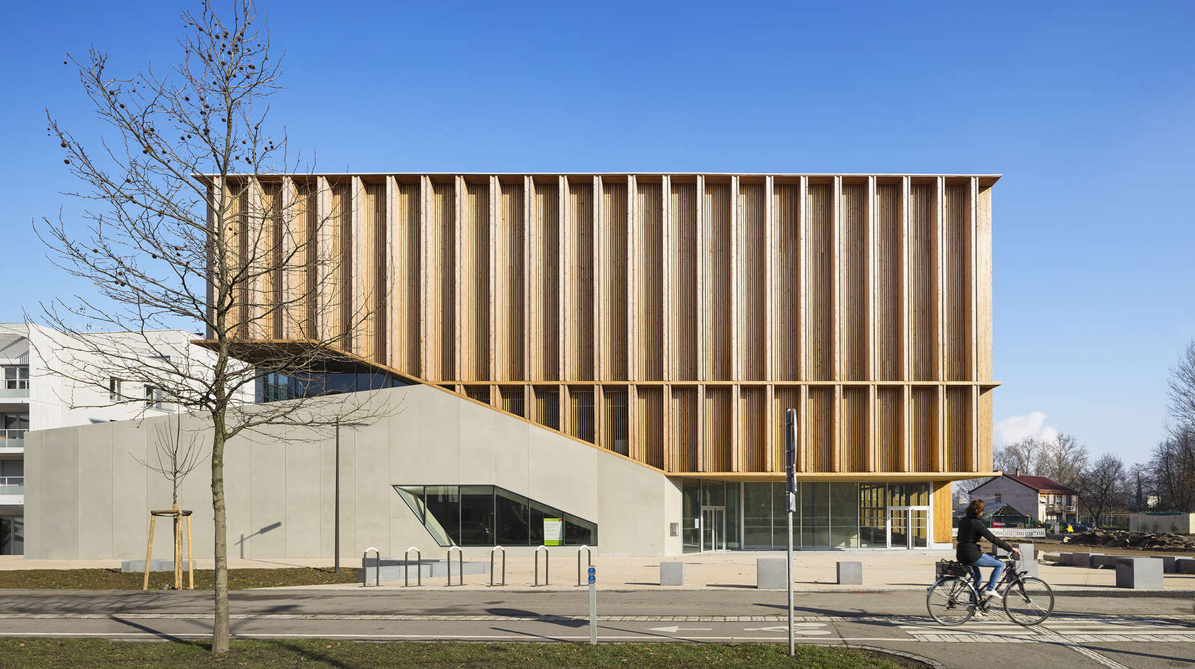 Sports hall in strasbourg architizer for K architecture strasbourg