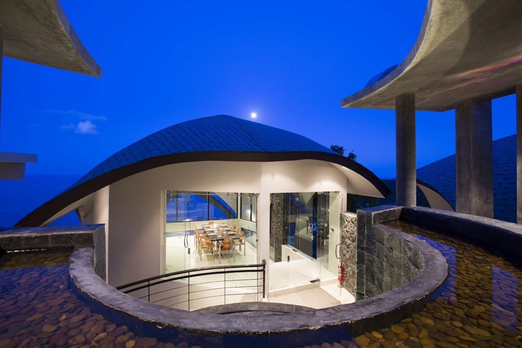 Moon shadow villa koh samui thailand architizer for Villa de luxe design