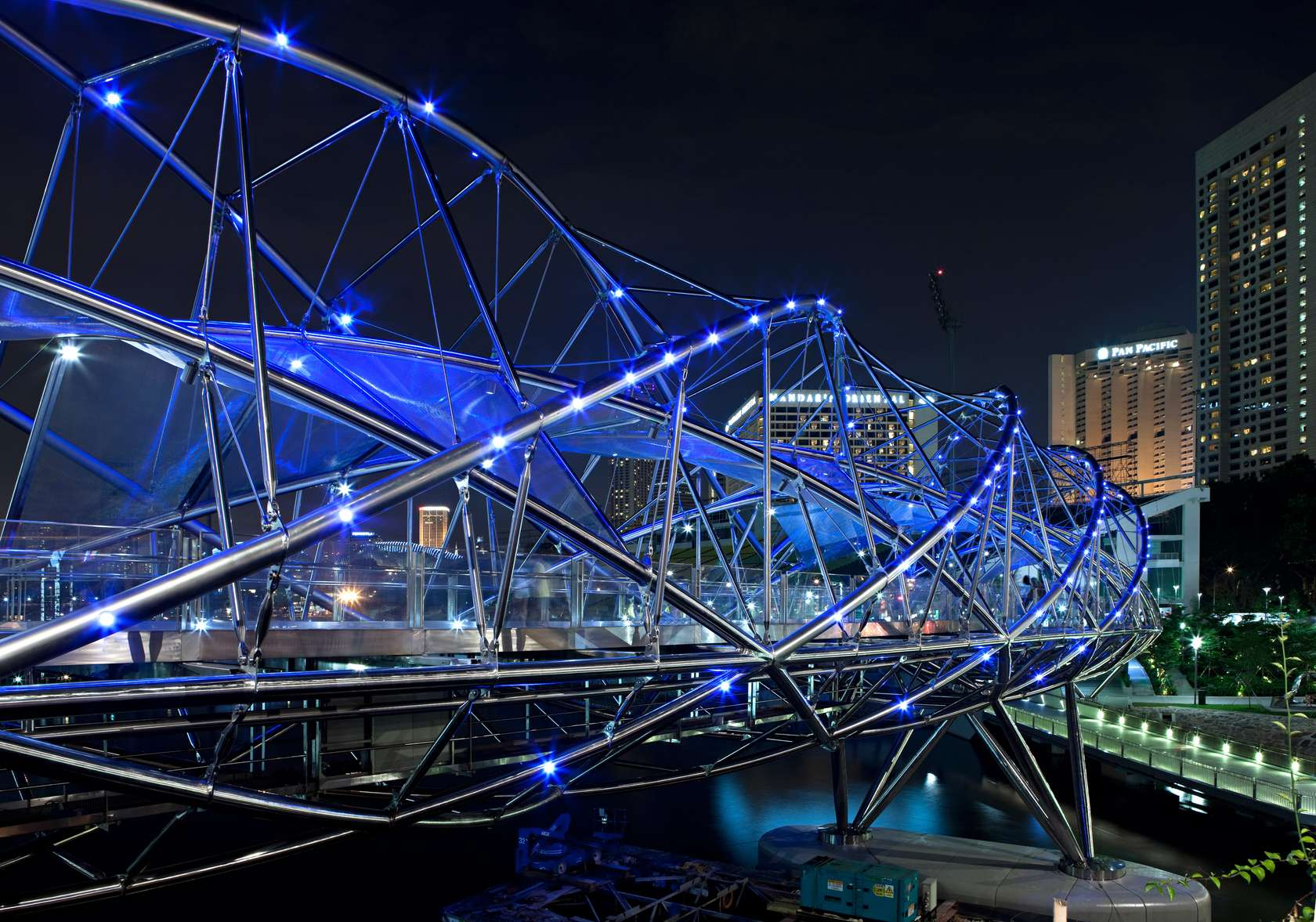 Helix bridge architizer for Design bridge singapore