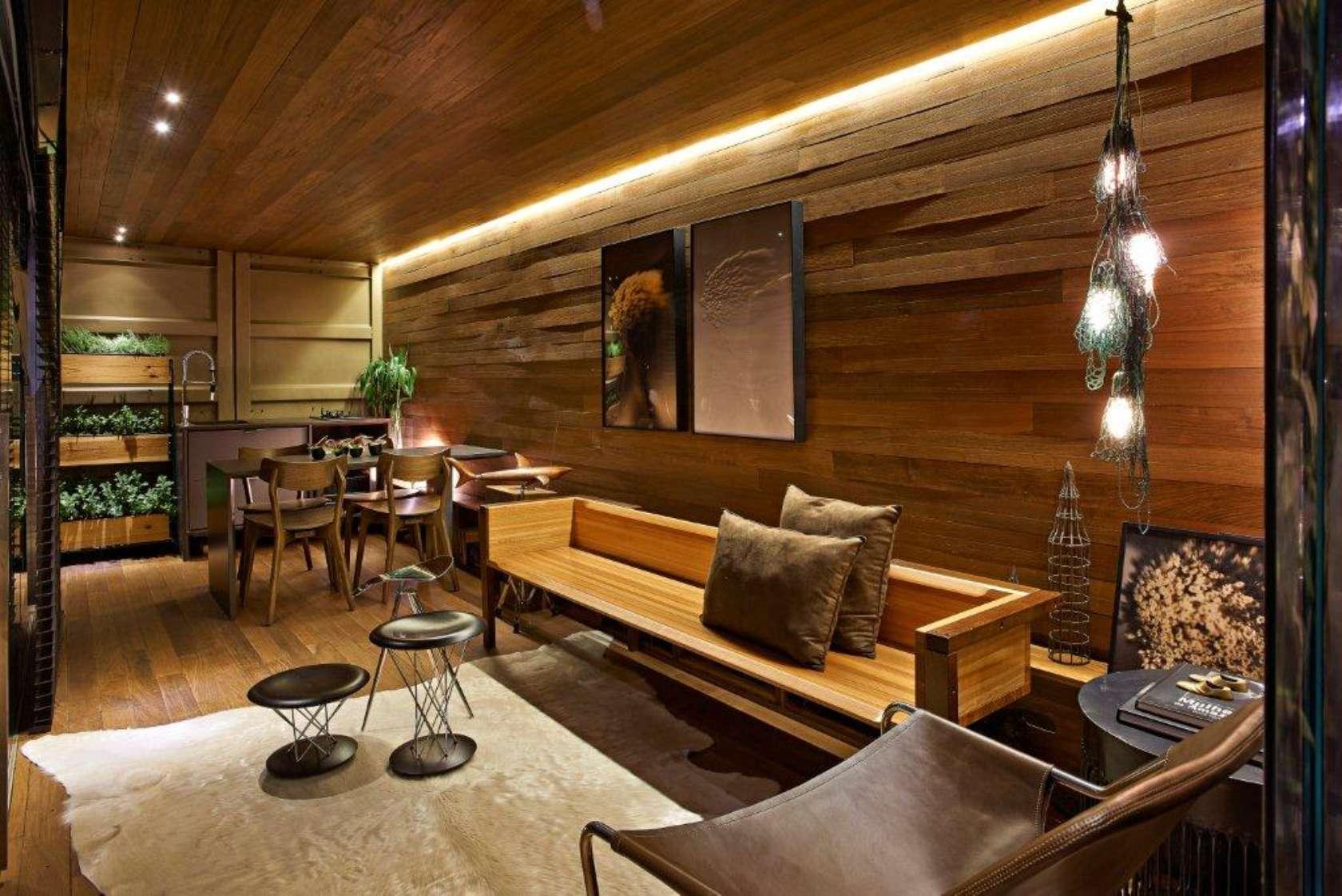 Pocket house architizer - Pared rustica interior ...