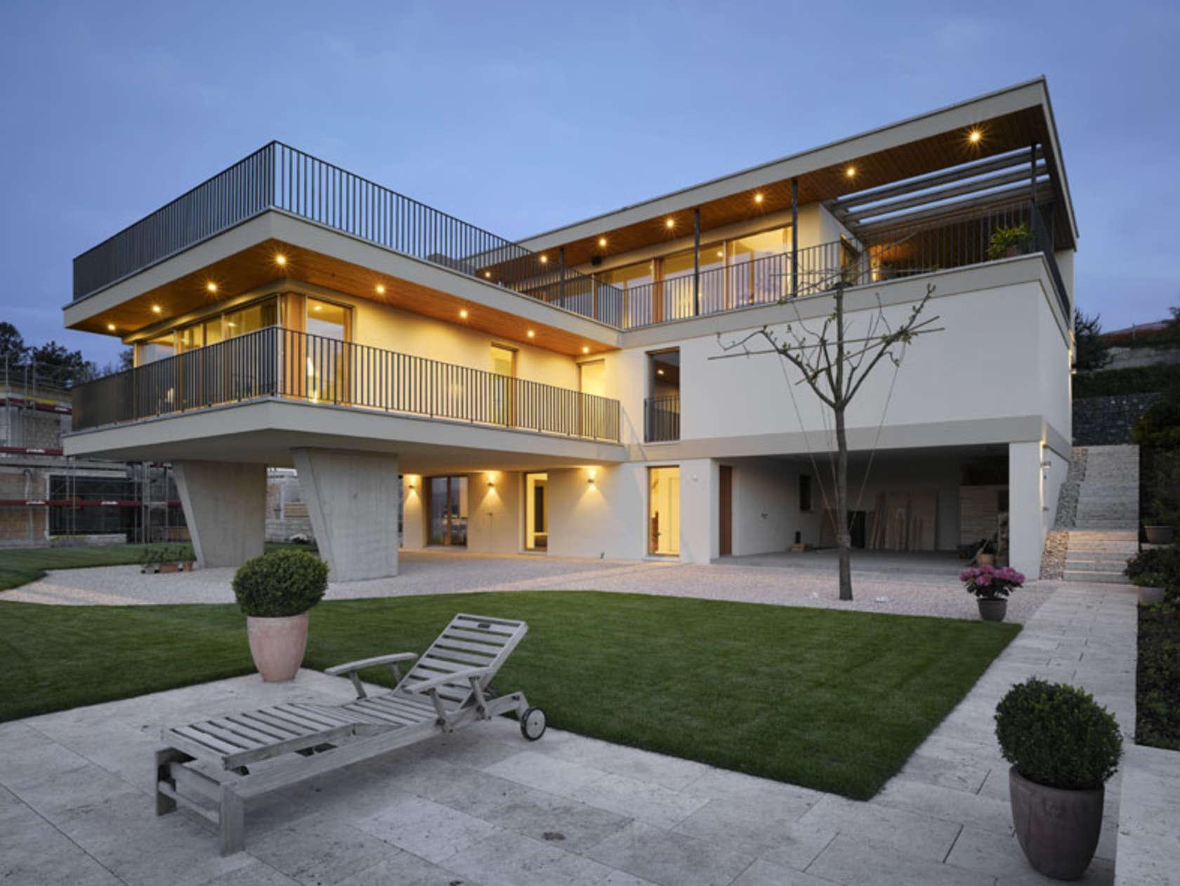 Contemporary villa lake zurich architizer for Modern house zurich