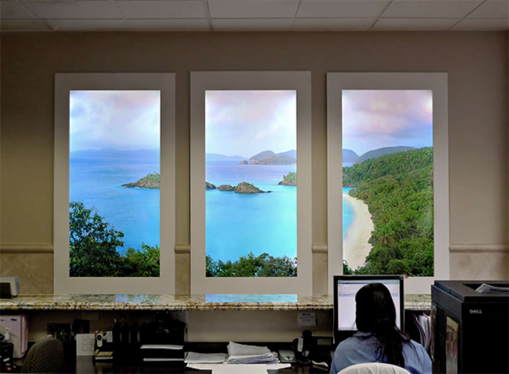 Fake Window For Office : Faux window and lights on pinterest
