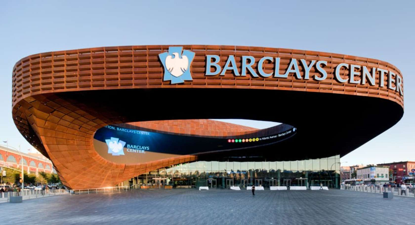 Barclays Center Dmd Weathering Steel Architizer