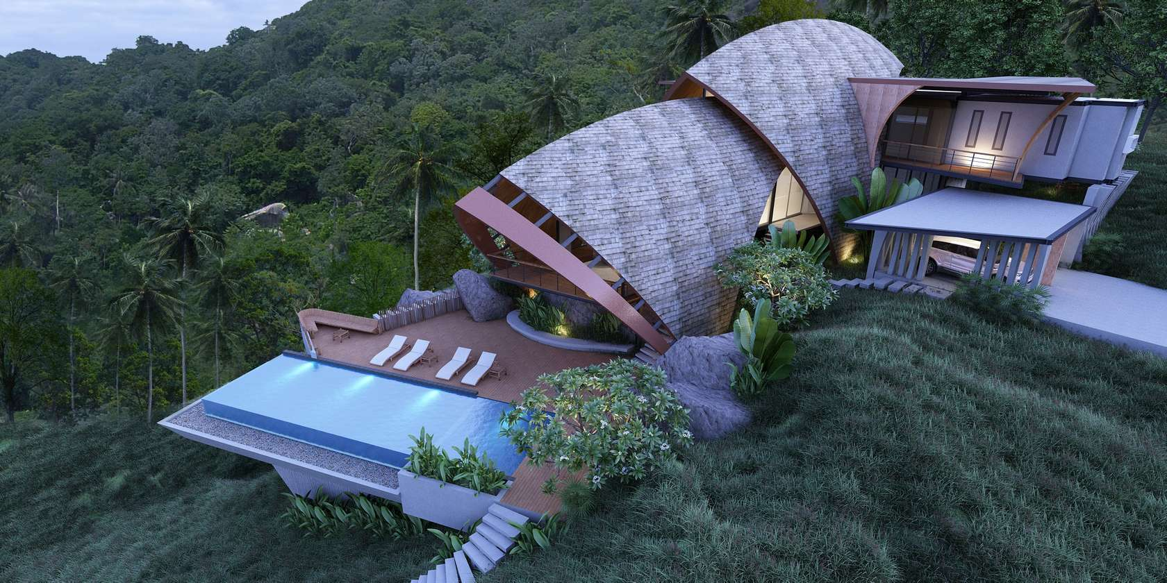 Neo concept design construction architizer for Villa concept construction vedene