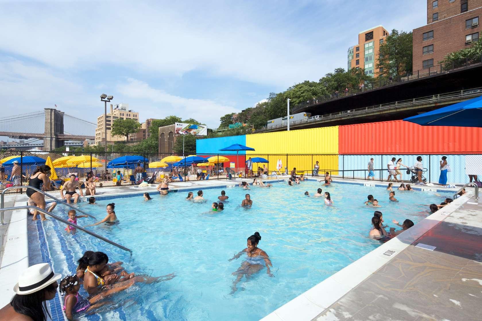 brooklyn bridge park pop up pool architizer. Black Bedroom Furniture Sets. Home Design Ideas