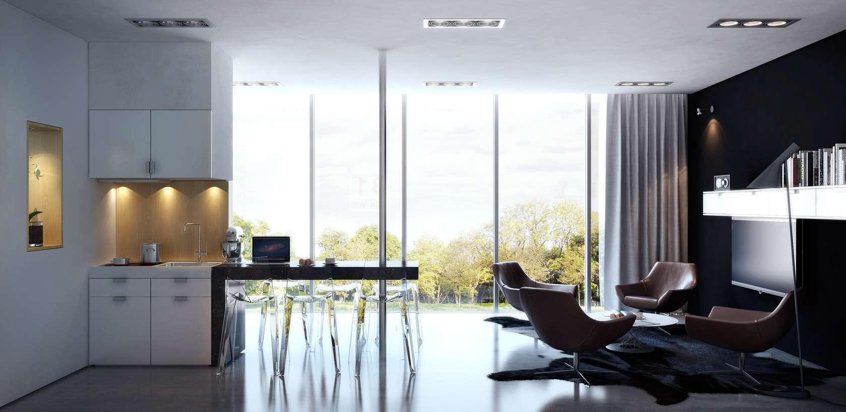 Small interior design concept 50m2 study architizer for Design apartment 50m2