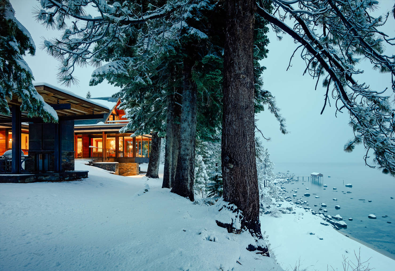 Tahoe lakefront architizer for Lake tahoe architecture firms