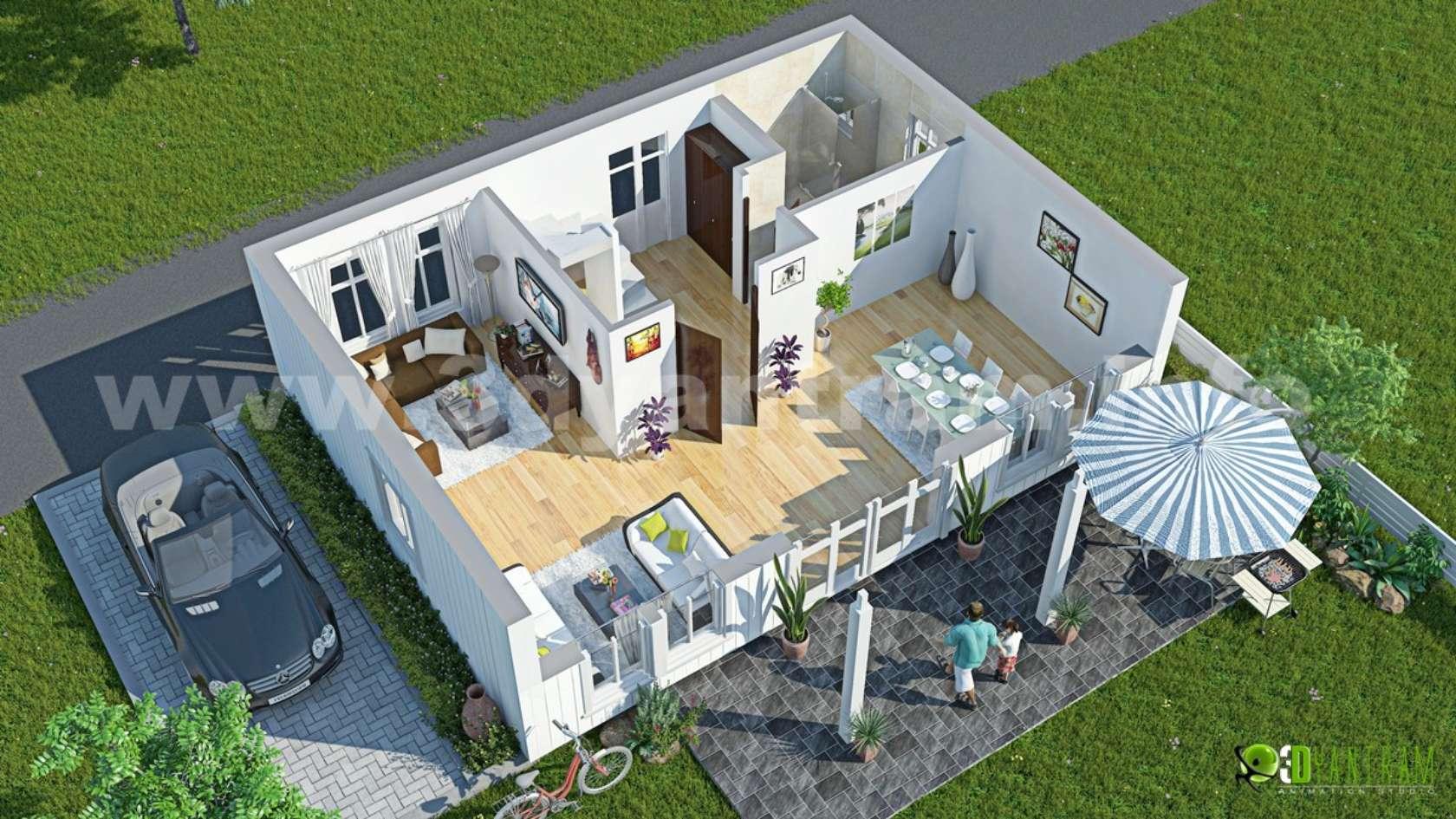 3d Floor Plan Architizer