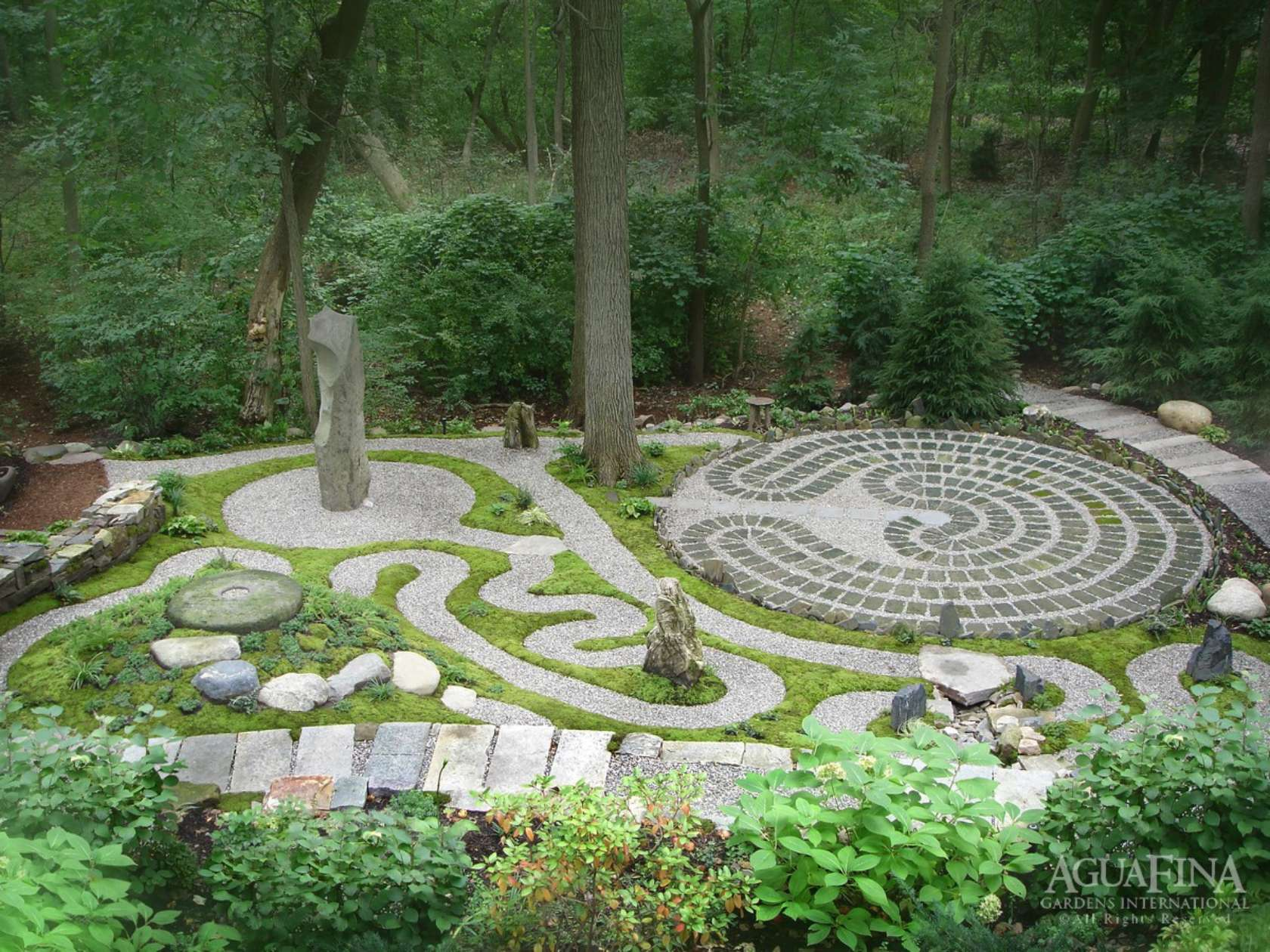 Spiritual garden architizer for Garden maze designs
