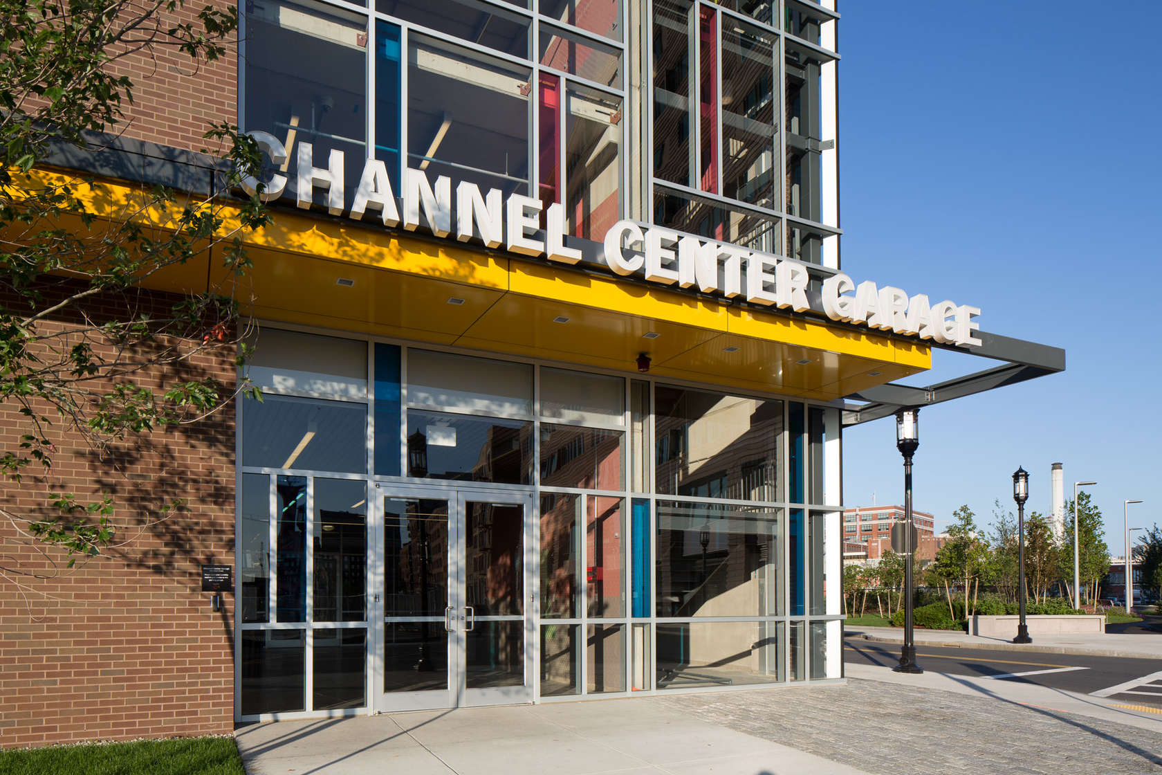 Channel center garage architizer for 166 terrace st boston ma
