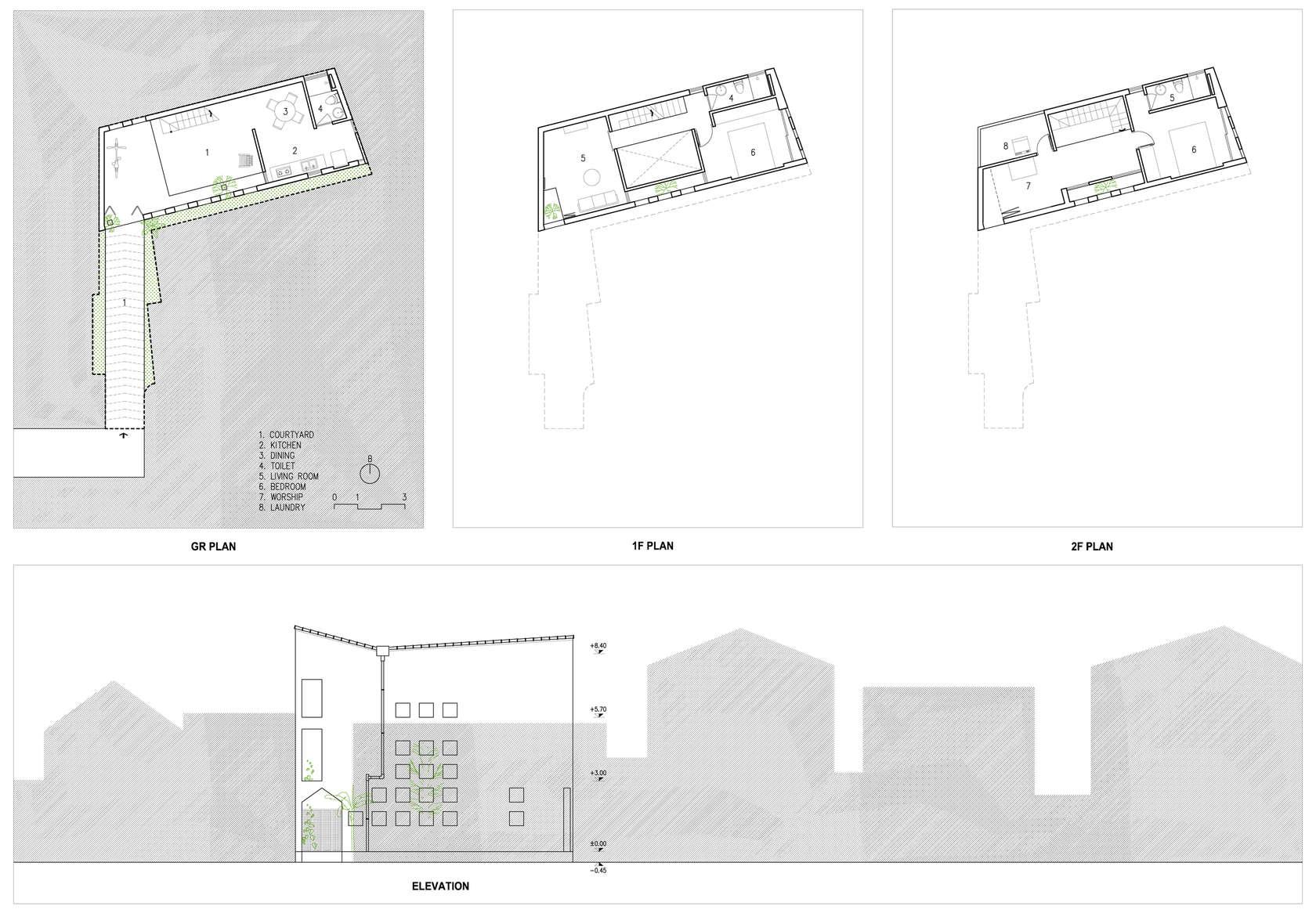 The cul de sac house architizer for Cul de sac house plans