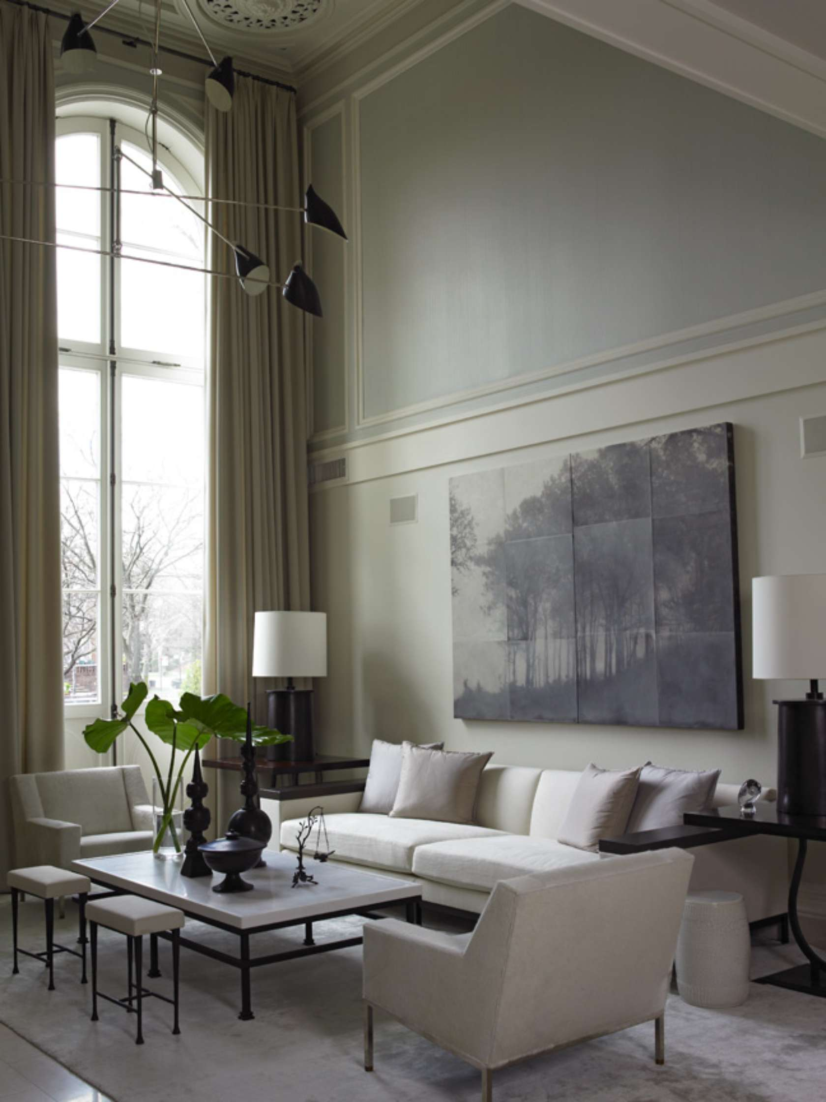 Parisian style townhouse architizer - How to decorate a living room with pictures on walls ...