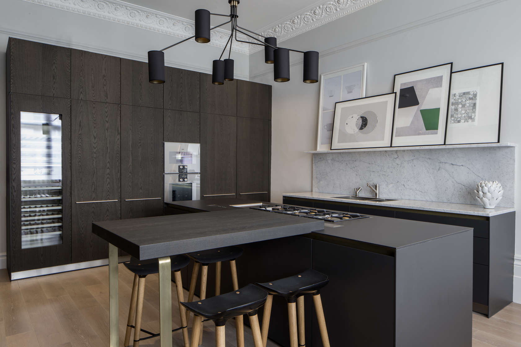 bespoke bulthaup in north west london apartment architizer. Black Bedroom Furniture Sets. Home Design Ideas