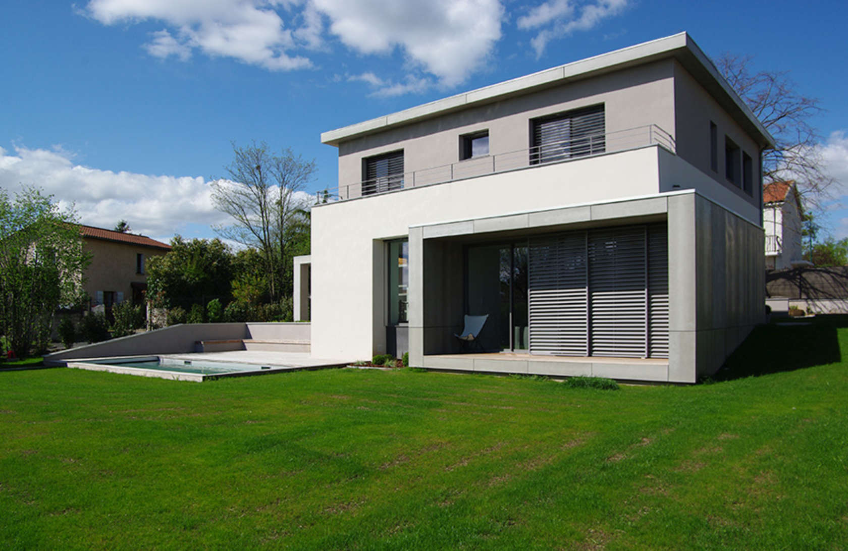 Facade maison moderne caen design - Photo facade maison contemporaine ...