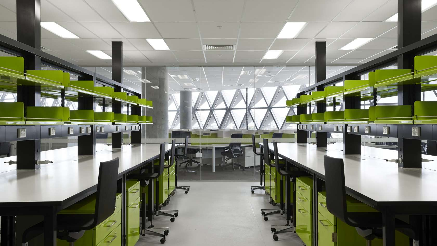 South australian health and medical research institute for Office design research