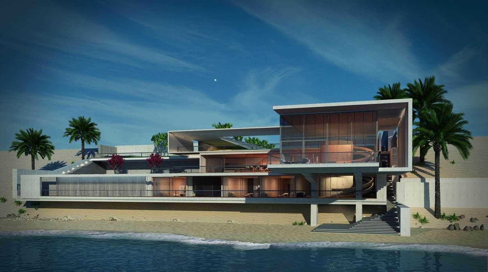Multi Storey Beach House In Rak Uae Architizer