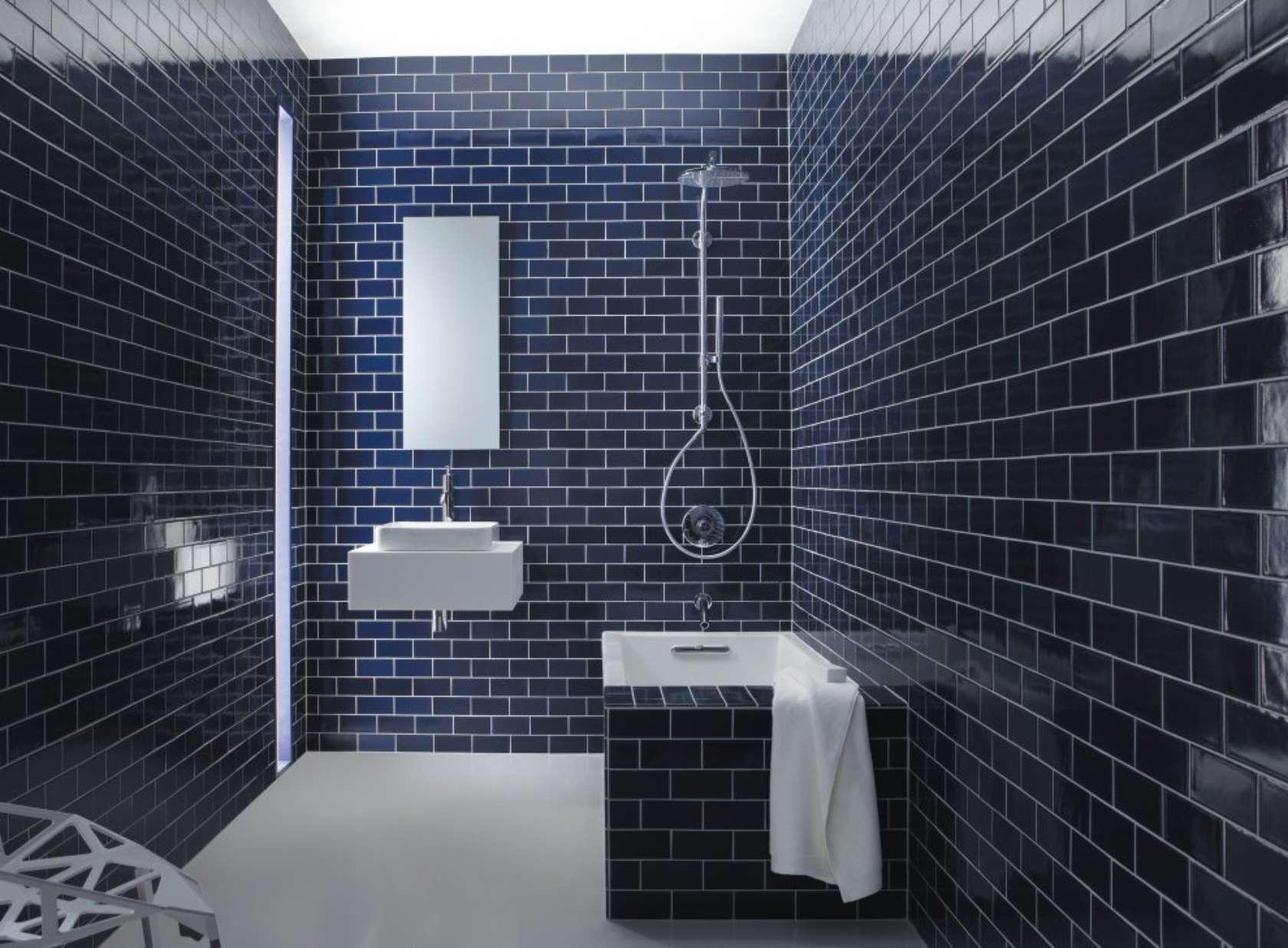 Navy Blue Tiles Bathroom : Amazing Blue Navy Blue Tiles Bathroom ...