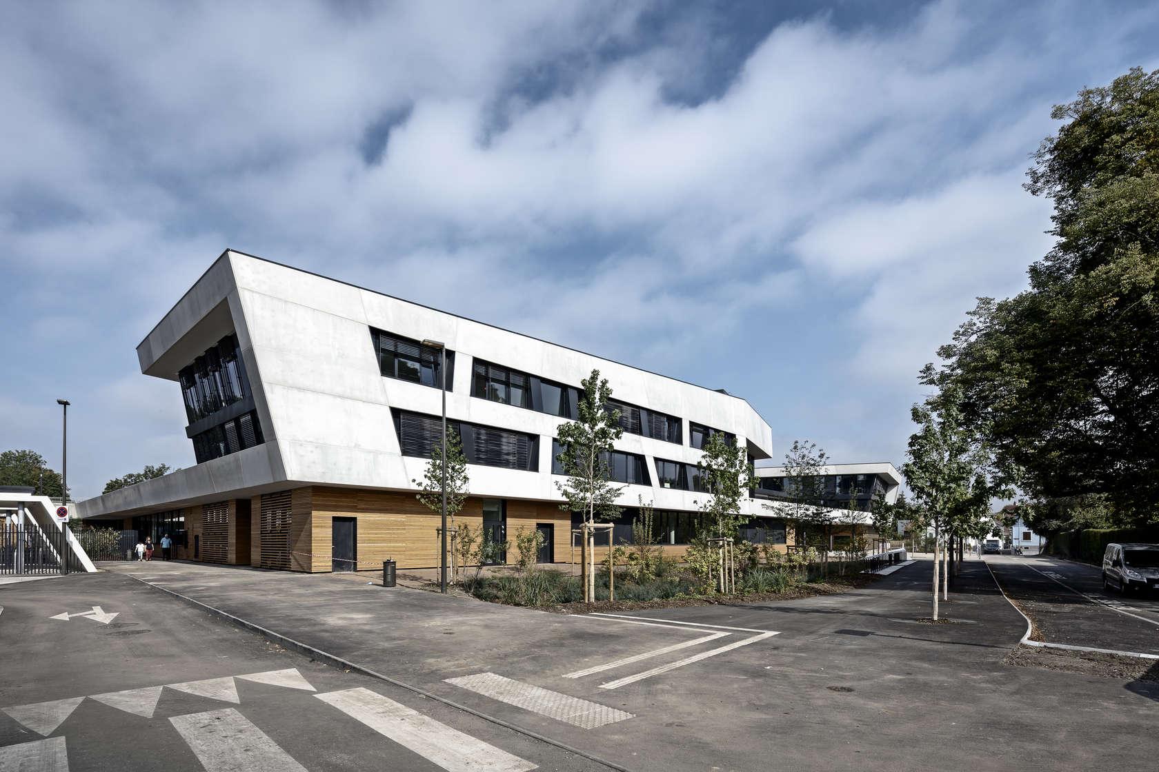European school strasbourg architizer for K architecture strasbourg