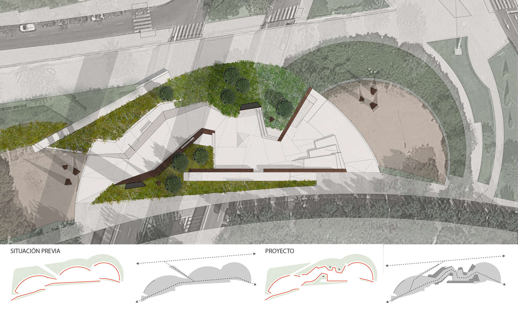 Aure cuadrado urban skate park barcelona architizer for Plan de arquitectura