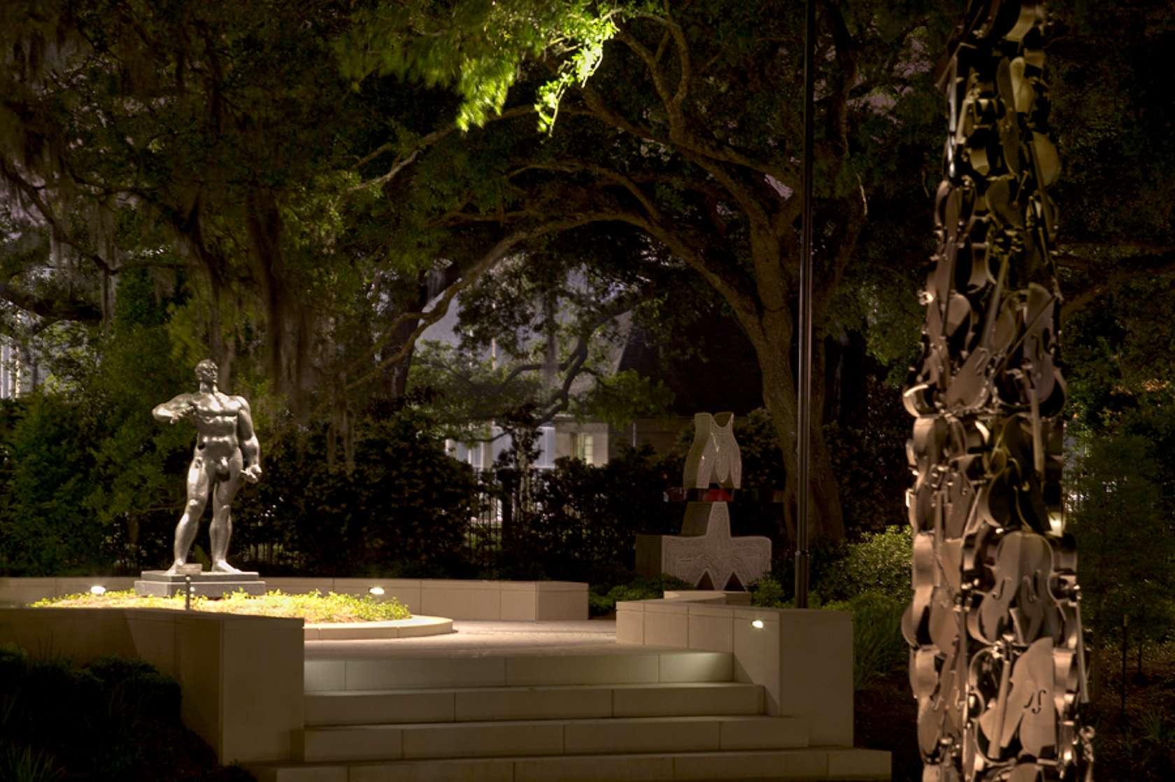 Sydney Walda Besthoff Sculpture Garden Lighting Design Architizer