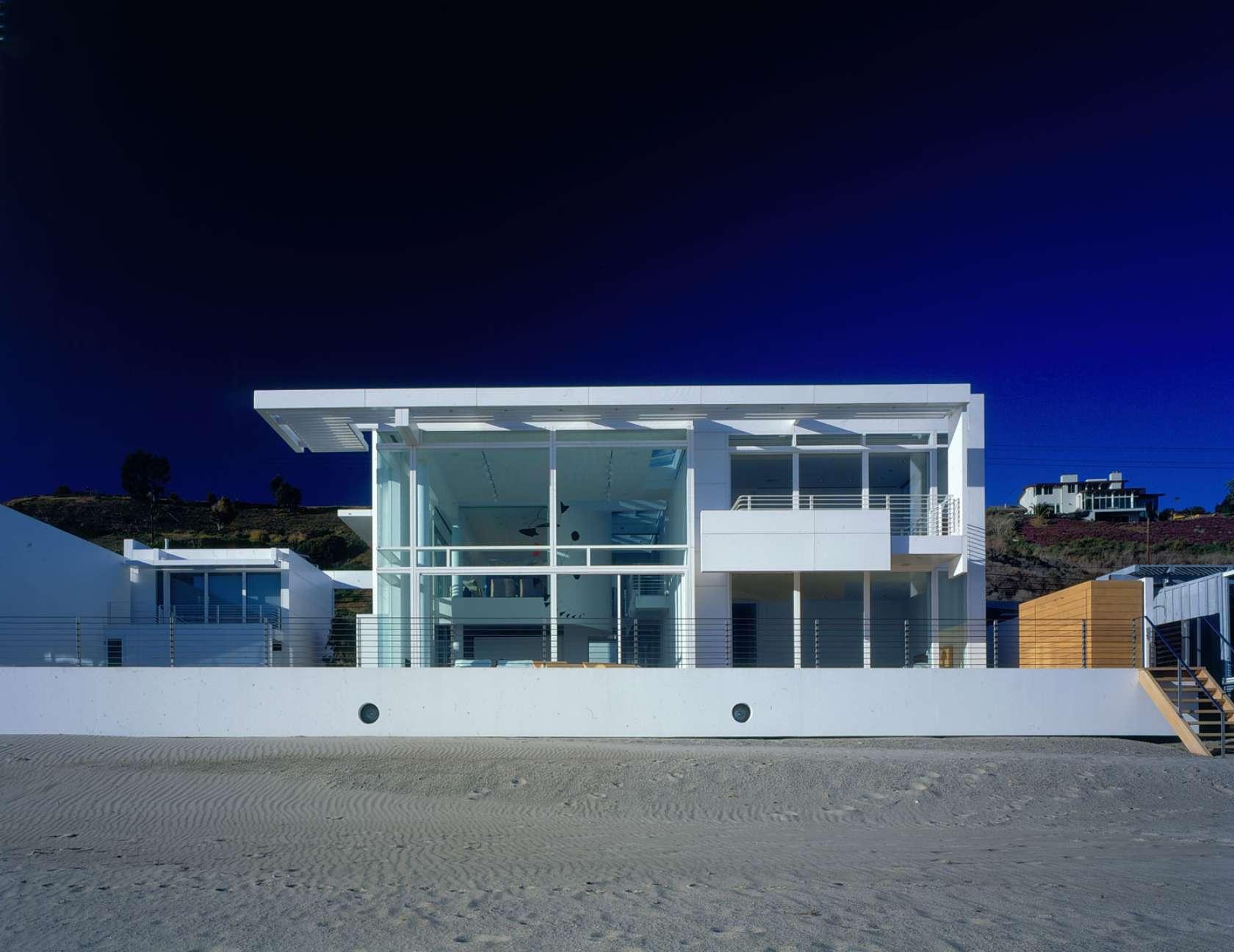 Southern california beach house plans ehouse plan richard meier