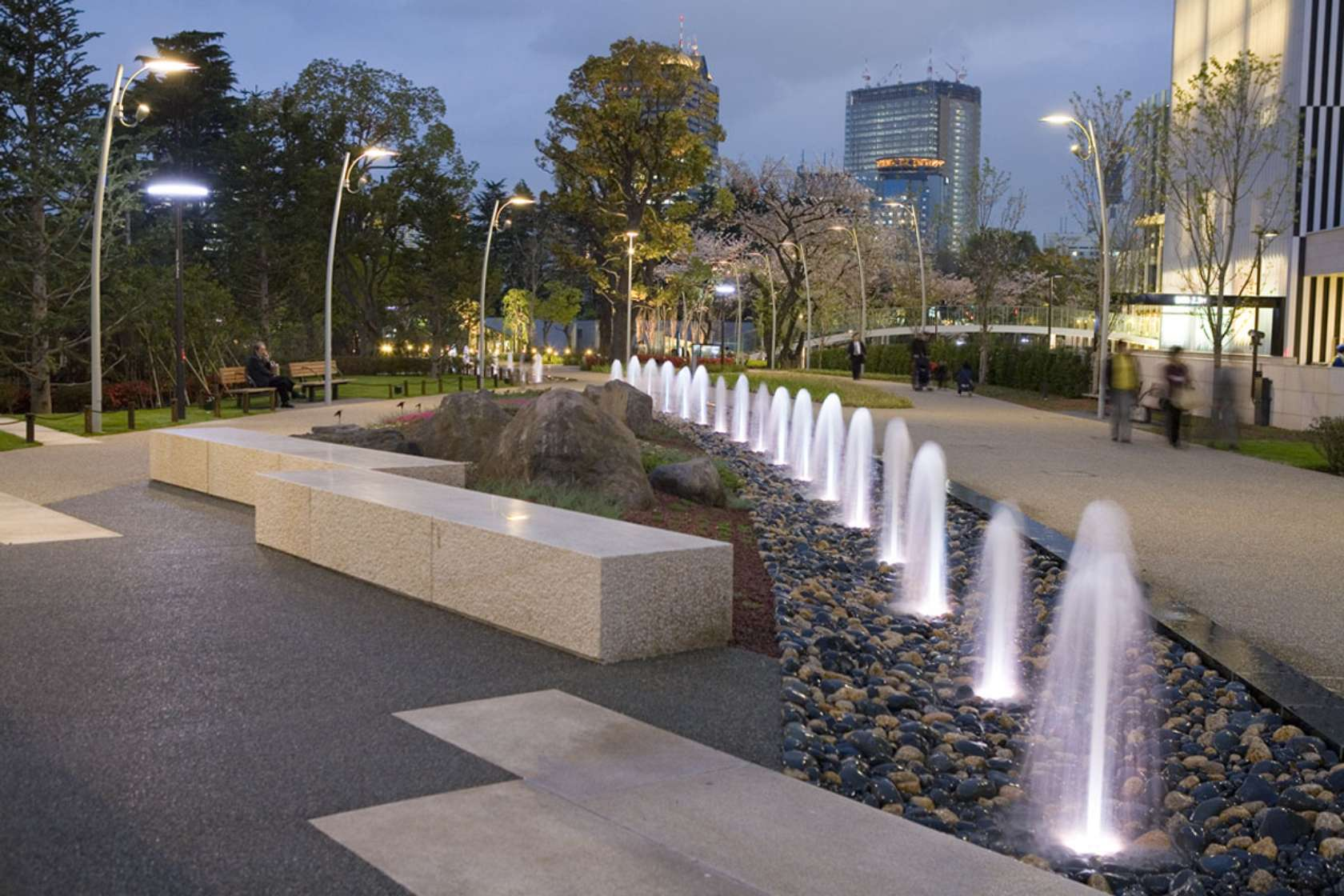 Tokyo midtown project architizer - Water features for small spaces plan ...