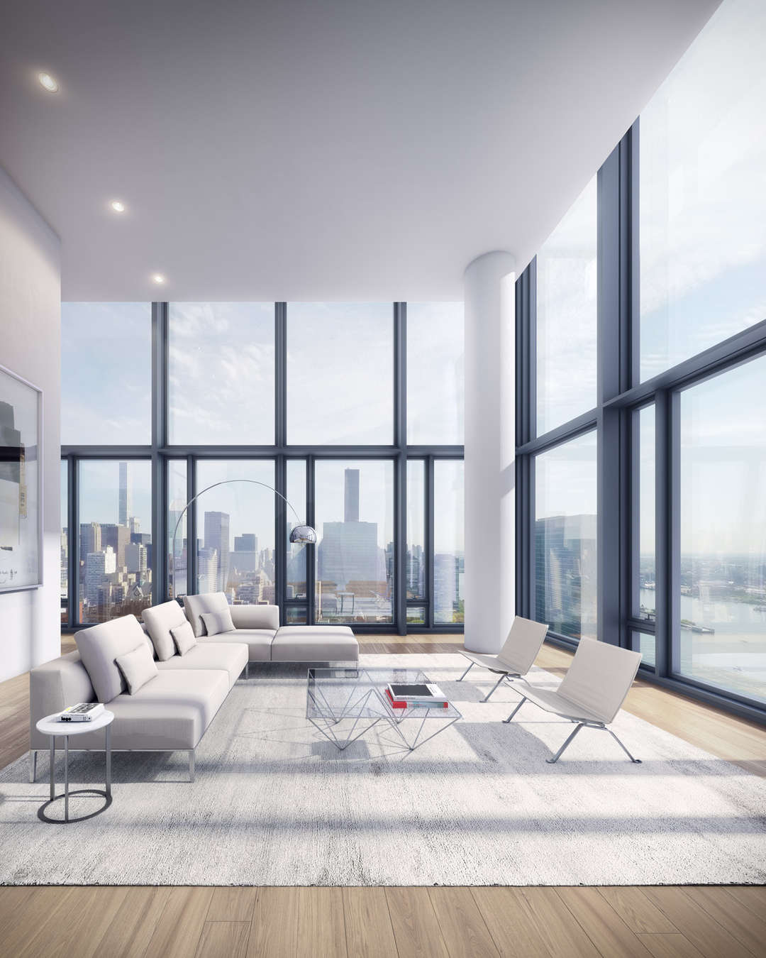 Black glass tower for new york by richard meier partners for New york interior architecture