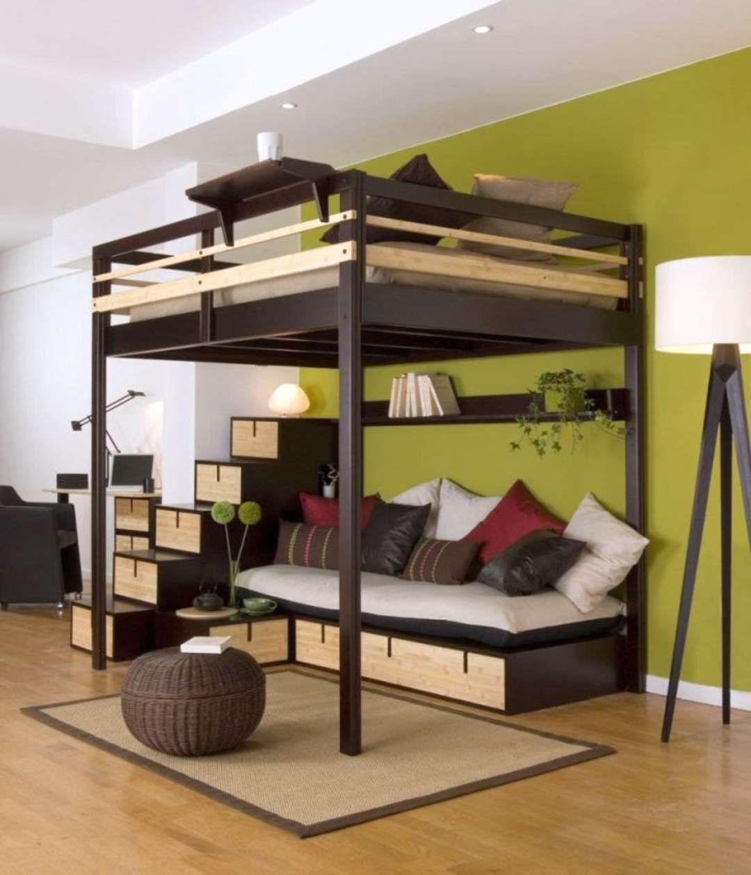 Tucked In: This Loft Bed Shows An Ingenious Way To Make The Most Of Our  Space In Rooms With High Ceilings. Part 71