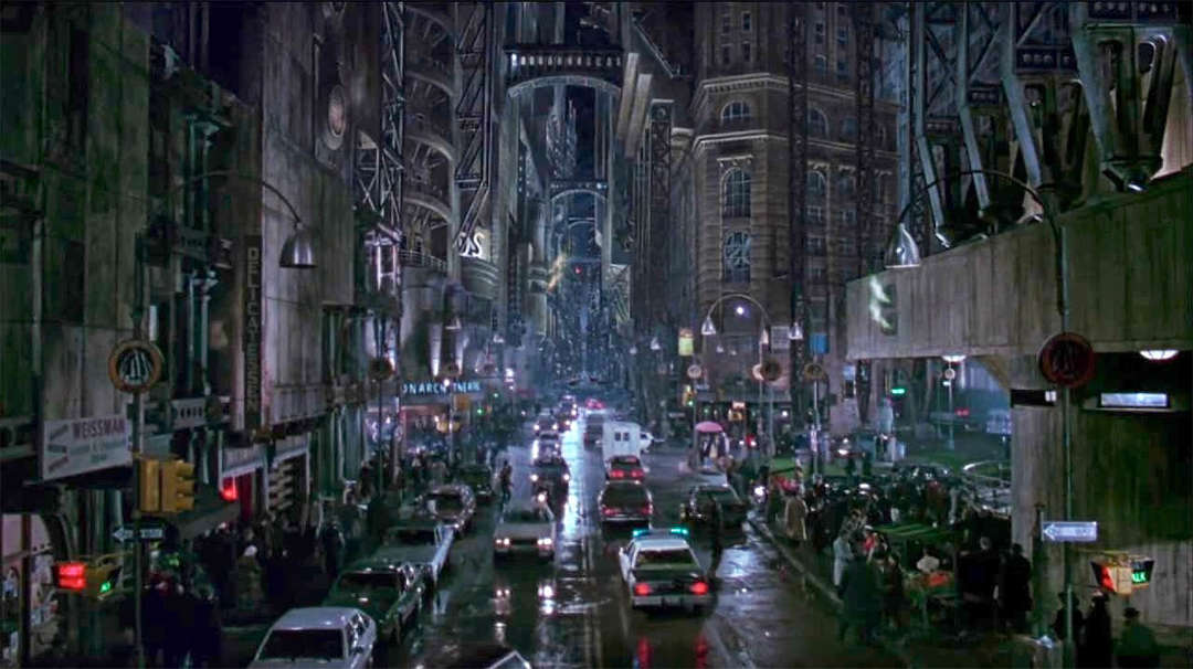 """architecture in the movie the dark Long answer: there are wonderful parallels between movies or film and  architecture  the city is literally dark, it's very """"art nouveau"""" and noir at the  same time."""