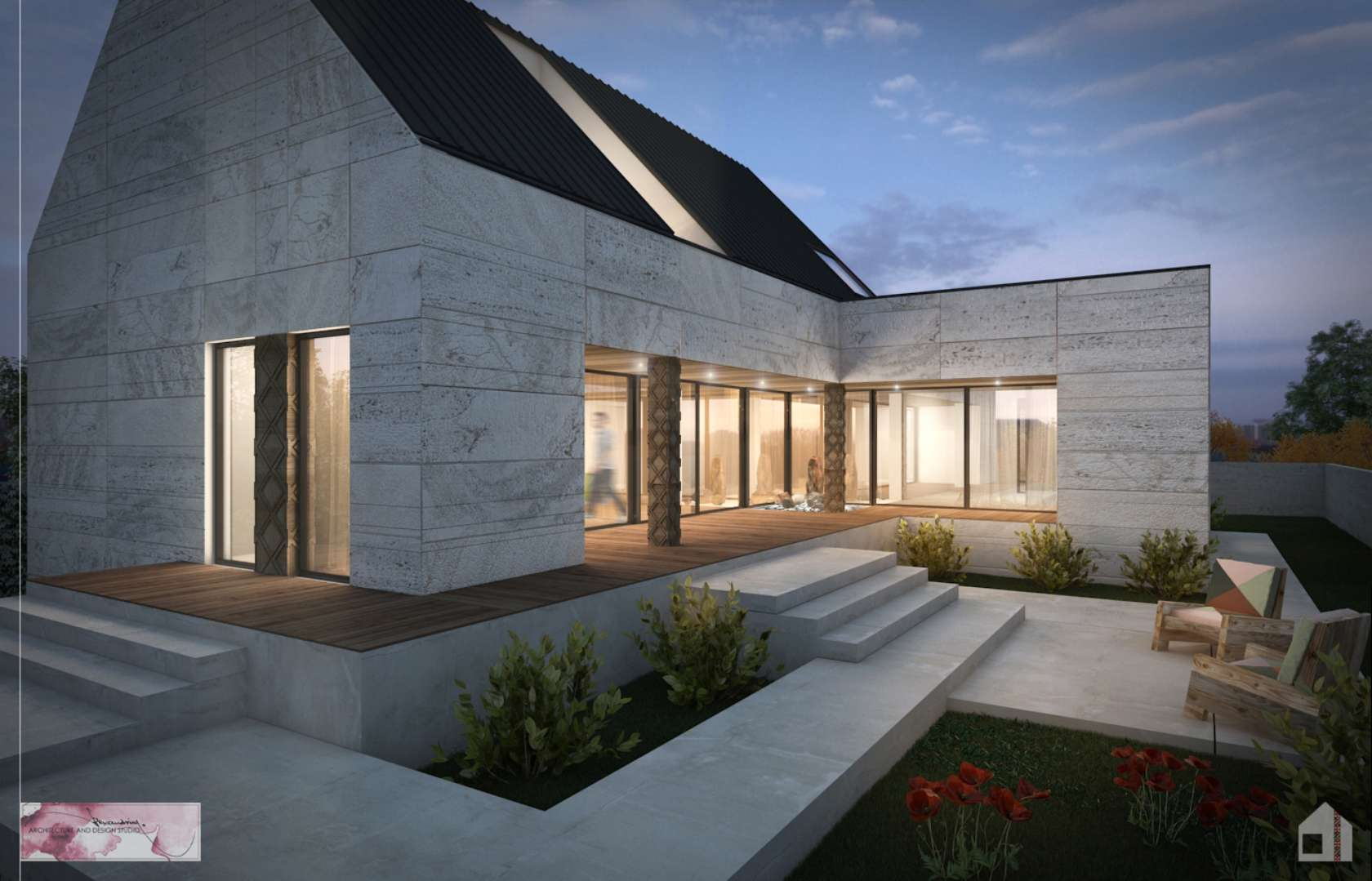 Pitched roof house designs for House design and architecture ideas
