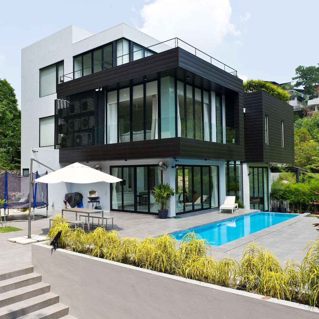 Black+White House By DCA: Design Collective Architects, Kuala Lumpur,  Malaysia