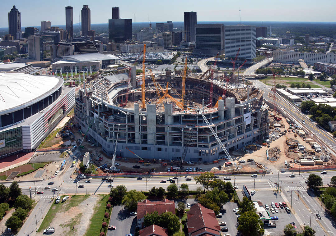Before and after 10 outlandish architecture projects made for Mercedes benz dome in atlanta
